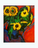 Sunflowers, c.1909 Prints by Ernst Ludwig Kirchner
