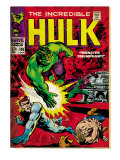Marvel Comics Retro: The Incredible Hulk Comic Book Cover 108, with Nick Fury (aged) Prints