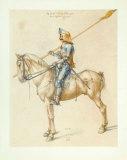 Armed Cavalier Collectable Print by Albrecht Dürer