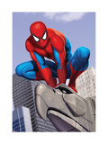 Spider-Man In the City on Gargoyle Affiches