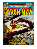 Marvel Comics Retro: The Invincible Iron Man Comic Book Cover No.121; Fighting Namor (aged) Print