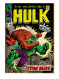 Marvel Comics Retro: The Incredible Hulk Comic Book Cover 106, Titan Rages (aged) Posters