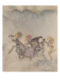 Each One Tripping On His Toe Will Be Here With Mop And Mow Poster by Arthur Rackham