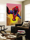 Spider-Man Swinging In the City Muurposter