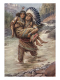 Hiawatha And Minnehaha Prints by Harold Copping