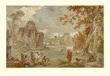 Rom, Villa Strozzi Samlertryk af Charles Joseph Natoire