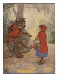 Illustrtation From Little Red Riding Hood Print by Frank Adams
