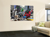 Spider-Man, Rhino, Green Goblin, and Doctor Octopus in the City Premium Wall Mural