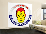 Marvel Comics Retro: The Invincible Iron Man '63 for Class President (aged) Wall Mural – Large