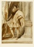 Portrait fo a Nobleman Samlertryk af Sir Anthony Van Dyck