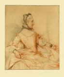 Portræt af en kvinde Samlertryk af Jean-Etienne Liotard