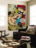 Marvel Comics Retro: Mighty Thor Comic Panel, Hercules (aged) Wall Mural