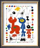Personnage et Oiseaux Posters by Joan Miró