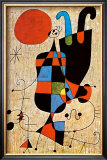 Upside-Down Figures Poster by Joan Miró