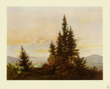 View of the Valley Collectable Print by Caspar David Friedrich