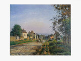 Landscape at Louvisiennes Prints by Camille Pissarro