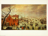 Icy Landscape Reproduction pour collectionneurs par Hendrick Avercamp