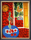 Red Interior Framed Giclee Print by Henri Matisse