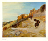 Way up to Narni Print by Karl Blechen