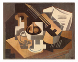 Guitare et Compotier sur une Table, c.1918 Prints by Juan Gris