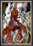 Red Eiffel Tower Framed Giclee Print by Robert Delaunay