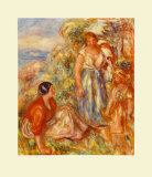 Two Young Girls Collectable Print by Pierre-Auguste Renoir