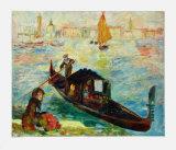 Venice, the Gondola Collectable Print by Pierre-Auguste Renoir