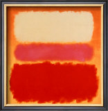 White Cloud over Purple Print by Mark Rothko