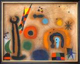Libelle Mit Roten Flugeln Eine Schlange Jagend Poster by Joan Miró