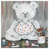 Nounours et Peinture Prints by Willy Renoux