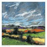 Pastel Landscape IV Print by Jacques Clement