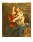 Virgin and Child Samlertryk af Sir Anthony Van Dyck