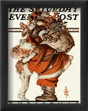 Hug from Santa, c.1925 Framed Giclee Print by Joseph Christian Leyendecker
