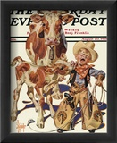 Little Cowboy Takes a Licking, c.1938 Framed Giclee Print by Joseph Christian Leyendecker