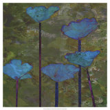 Teal Poppies I Posters by Ricki Mountain