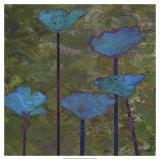 Teal Poppies I Art by Ricki Mountain