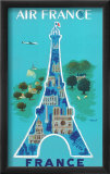 Air France: Eiffel Tower and Paris Monuments, c.1952 Kunst af Bernard Villemot