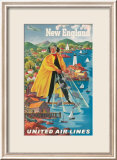 United Airlines, New England Kunstdrucke von Joseph Feher