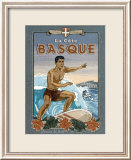 La Cote Basque de Surf Posters by Bruno Pozzo