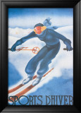 Sports d'Hiver Posters by Georges Arou