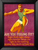 Feeling Fit Motivational Lámina giclée enmarcada por Mather
