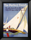 The Perfect Finish Lámina giclée enmarcada por Frank Mather Beatty
