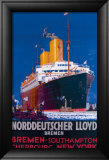 Norddeutscher Llyod Bremen Framed Giclee Print by H.h. Rodmel