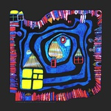 Vattnets ände, 1979|End of the Waters, c.1979 Planscher av Friedensreich Hundertwasser