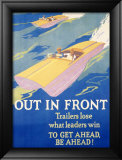 Out in Front Indrammet giclee-tryk af Frank Mather Beatty