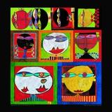 We Live in Paradise, c.1999 (detail) Posters af Friedensreich Hundertwasser