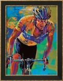Lance Armstrong,  7 fois champion du Tour de France (sport, cyclisme) Posters par Malcolm Farley