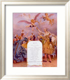 Menu Moet et Chandon Framed Giclee Print by Maurice Leloir
