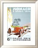 6th Grand Prix Automobile, Monaco, 1934 Print by Geo Ham