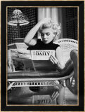Marilyn Monroe Reading Motion Picture Daily, New York, c.1955 Art par Ed Feingersh